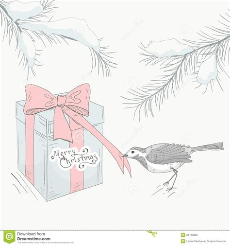 card draw greeting card with bird 3 royalty free stock photo image