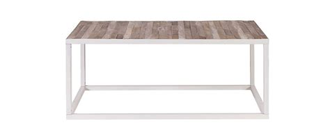 White And Metal Coffee Table Rochelle Wood And White Metal Coffee Table 100x60cm Miliboo