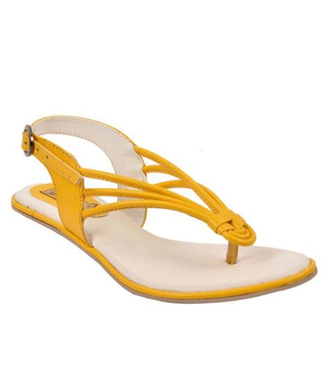 flat yellow sandals jolly jolla yellow flat sandals available at snapdeal for