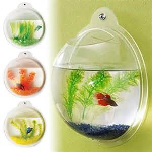 Fish Bubble   Deluxe Acrylic Wall Mounted Fish Tank w/Bonuses