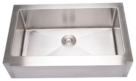 hahn kitchen sinks hahn notched farmhouse large single bowl sink