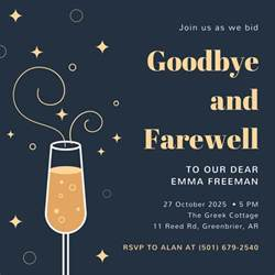 farewell invitation templates canva