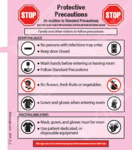 More isolation precaution examples iso sign infection prevention