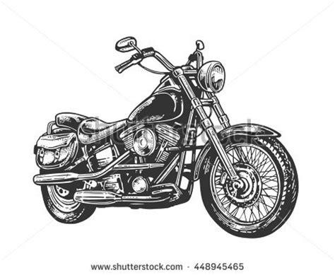 Motorrad Chopper Arten by Motorcycle Side View Classic Stock Vector