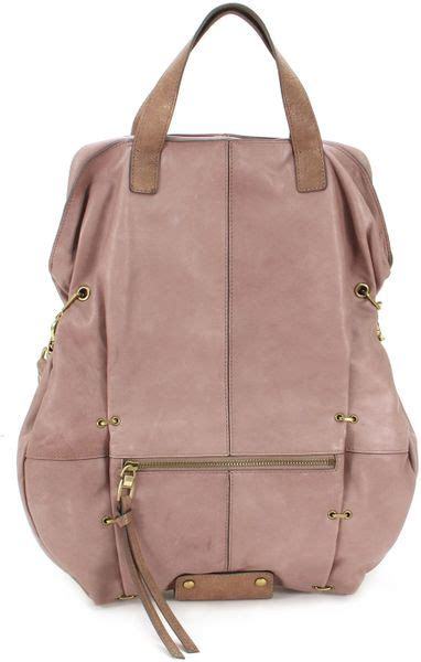 Kooba Toby Slouchy Covertible Backpack by Kooba Convertible Tote Mauve In Purple Mauve Lyst