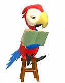 Animasi Bergerak – Parrot Reading Book