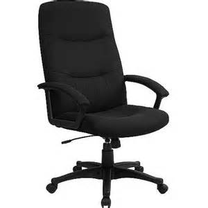 Fabric upholstered executive high back swivel office chair