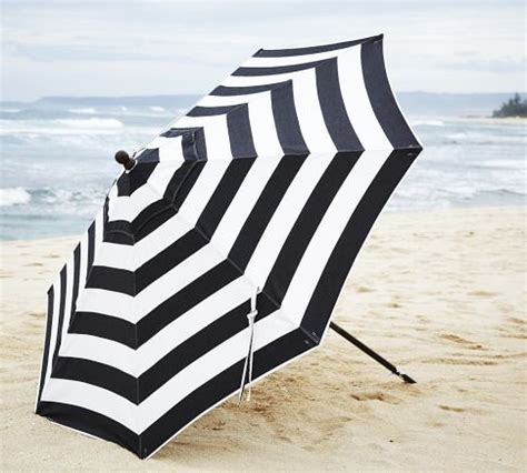 Black And White Striped Patio Umbrella Bold In Black And White Umbrellas
