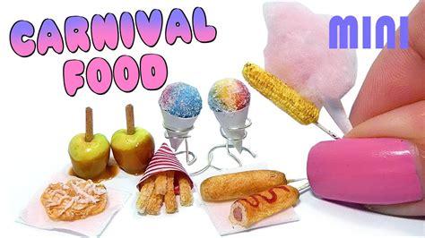 Link Mini Food by Easy Mini Carnival Food Snacks Tutorial Diy Miniature