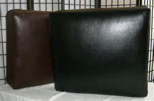 Rectangular sofa cushion with bonded leather cover medium size