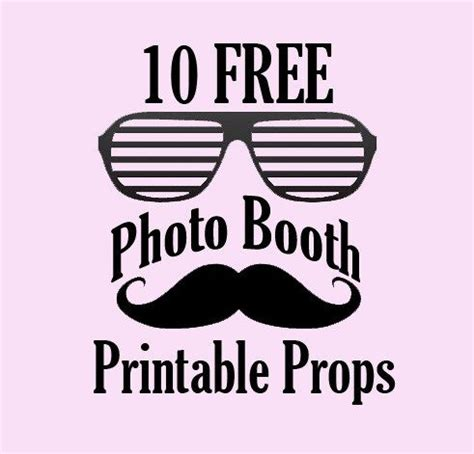 10 free photo booth prop printables | photo booth, booth