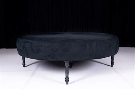 Home Decor Houston classic black velvet large round ottoman wedding rental