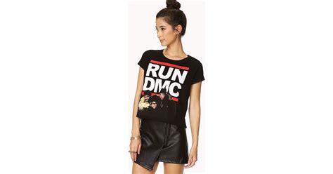 T Shirt Run Dc White forever 21 run dmc in black black white lyst