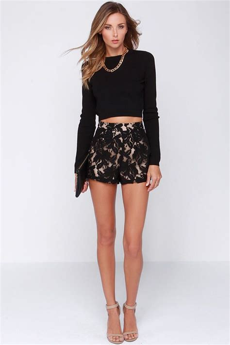 salir de fiesta por barcelona a lace for everything black lace shorts salir barcelona