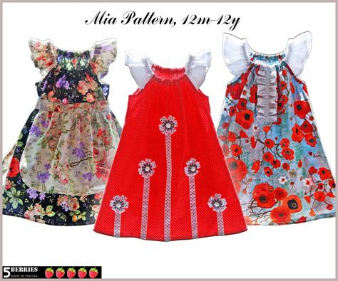 patterns sewing children s clothes mia girls dress pattern free mother daughter apron pattern