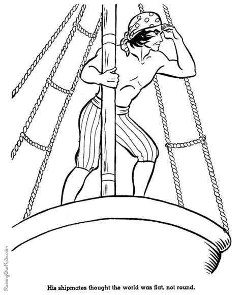 christopher columbus coloring page nina pinta and santa
