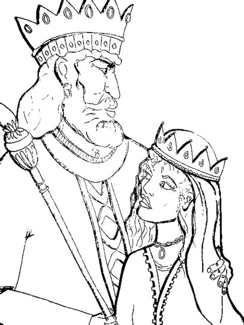 king  persia  queen esther  purim coloring page