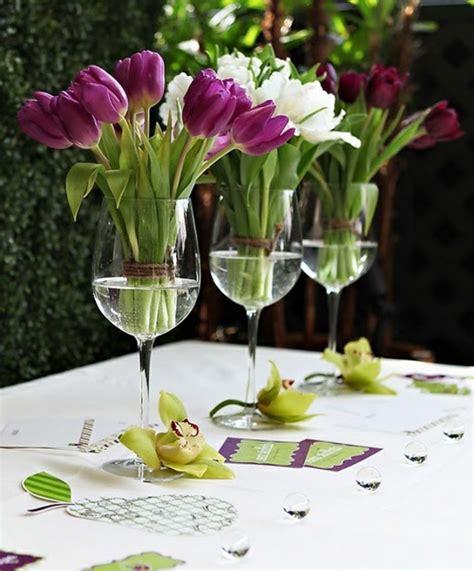tulpen im glas dekorieren 100 tolle ideen f 252 r tischdeko mit tulpen archzine net