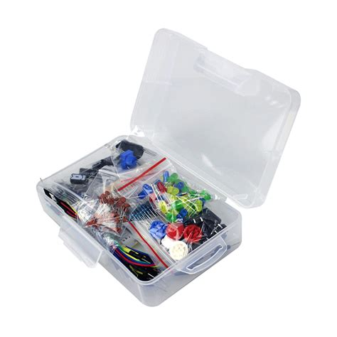 resistor capacitor kit starter kit for arduino resistor led capacitor jumper wires breadboard resistor kit with