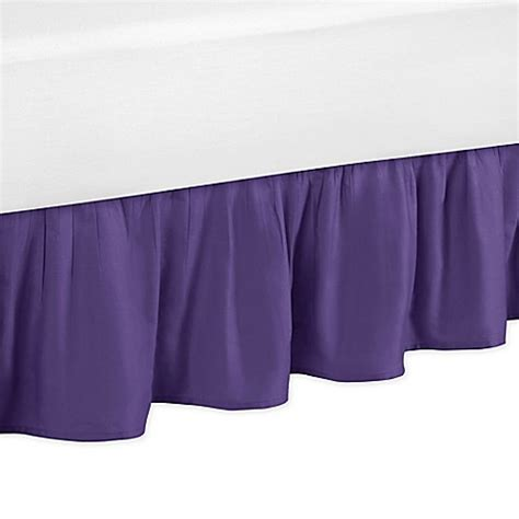 purple bed skirt sweet jojo designs sloane bed skirt in purple bed bath