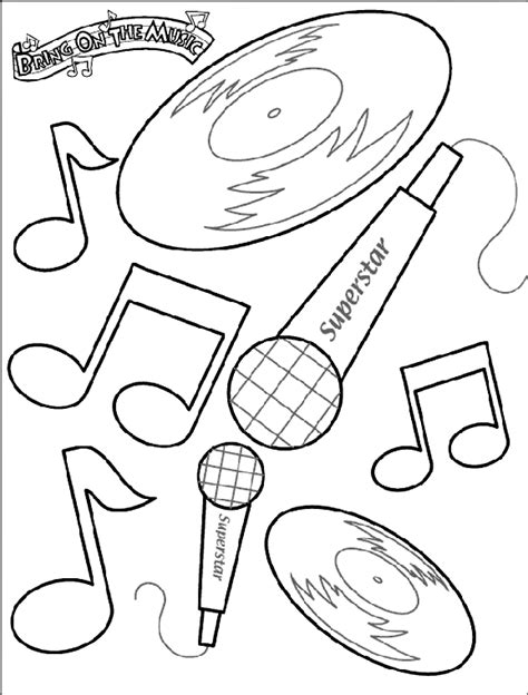 musical notes coloring pages