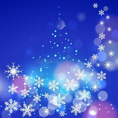 winter tree snowflakes stock vector abstract winter blue background with snowflakes an stock vector image 34722312