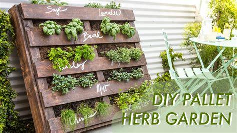 diy gardening diy shipping pallet herb garden makeful