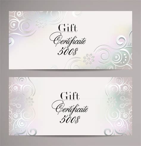 Free Wedding Gift Card Template by Ornate Gift Certificates Template Vectors Free Vector In