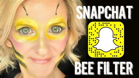 snapchat bee filter makeup face paint tutorial halloween