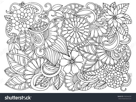 coloring books country autumn in grayscale 42 coloring pages of autumn country rural landscapes and farm with barns cottages streams windmills mountains and more books doodle floral pattern black white page stock vector