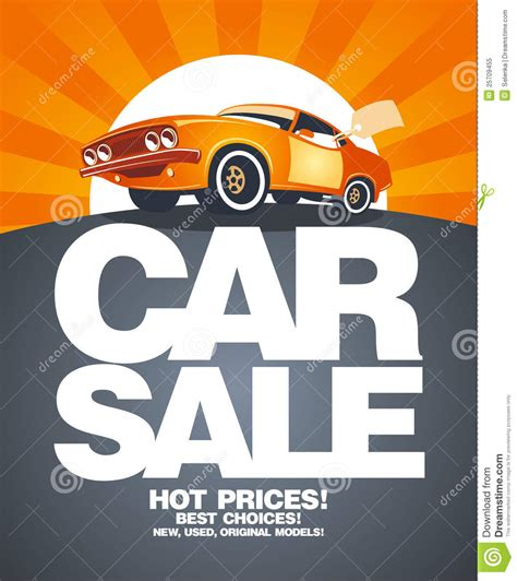 Car Sale Design Template. Royalty Free Stock Photo   Image
