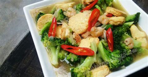 Dm Md Kyra Putih dapur kak pah tauhu telur bersama brokoli