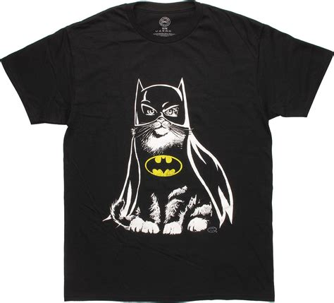 batman cat in costume t shirt