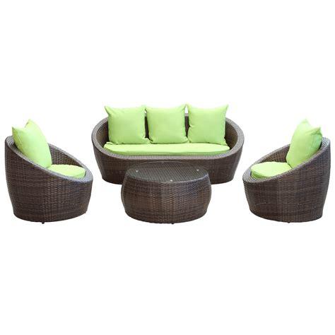 brown green modway avo 4 sofa set in brown green beyond stores