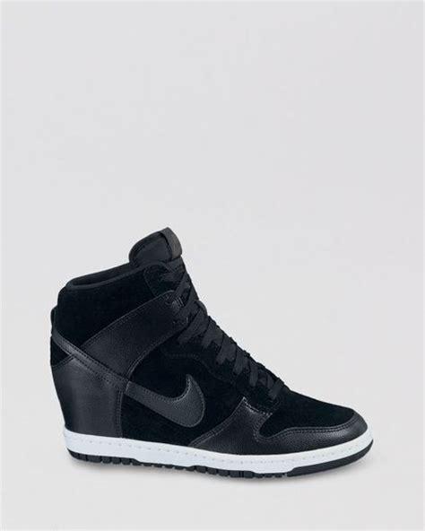 high top black sneakers womens nike high top lace up sneakers womens dunk sky hi in black