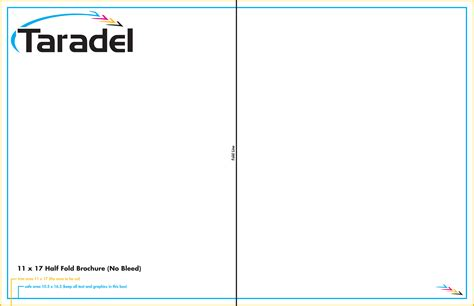 Taradel Brochures Templates 11x17 Booklet Template