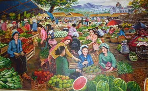 jual lukisan pasar buah id gallery