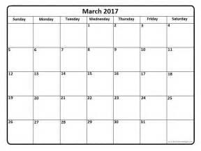 march 2017 calendar 2017 calendar template