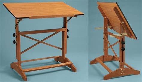 Drafting Table Wooden Alvin Pavillon 30x42 Wooden Drafting Table Cherry Finish