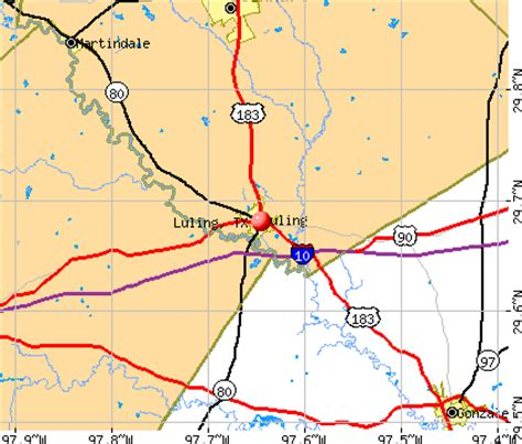 where is luling texas on a map luling texas tx 78648 profile population maps real estate averages homes statistics