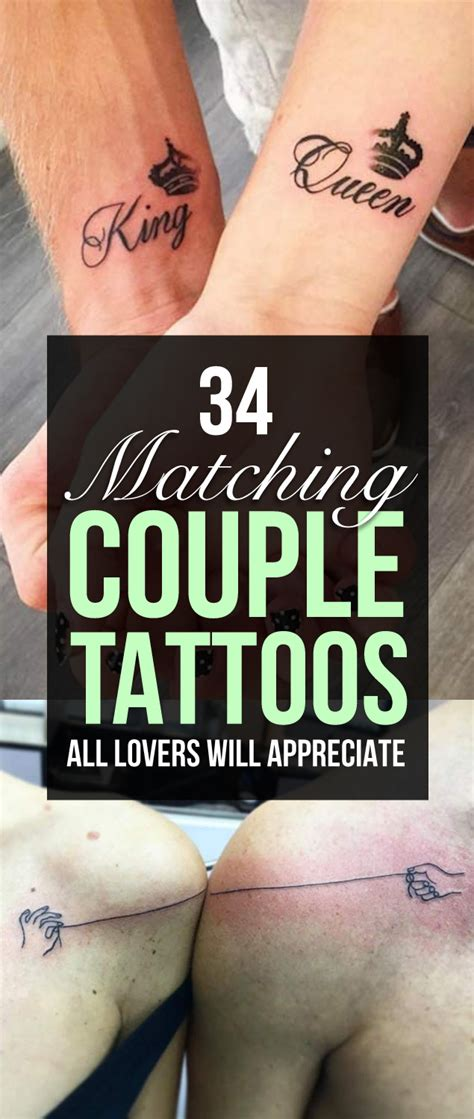 tattoo matching couple 34 matching couple tattoos all lovers will appreciate