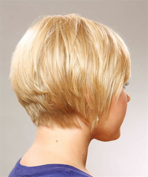 short haircuts for fine hair front and back short straight casual hairstyle with side swept bangs honey