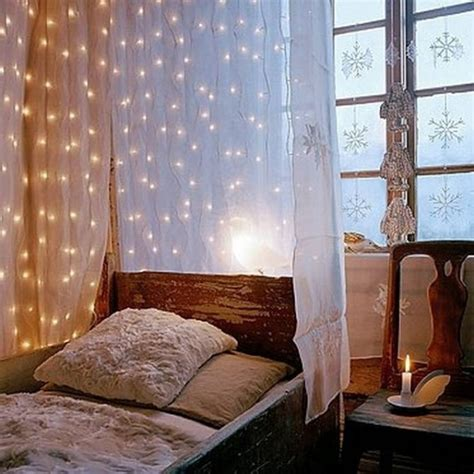 String Light For Bedroom 23 Amazing Canopies With String Lights Ideas