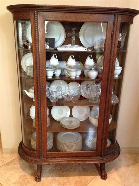 inherited antique china cabinet curio from my great