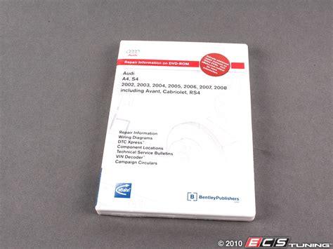 audi a4 service manual 2002 2003 2004 2005 2006 2007 import it all ecs news audi b6 a4 1 8t bentley service manual