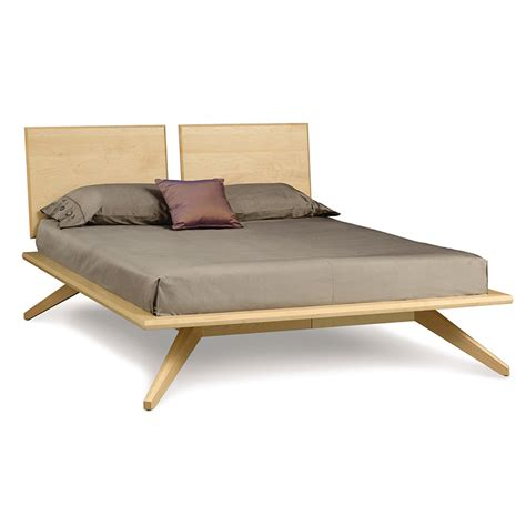 modern wood platform bed modern contemporary astrid platform bed solid maple wood