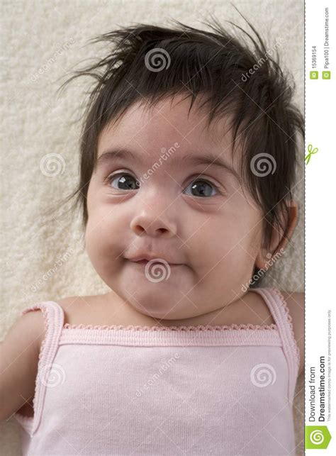 a lot of hair on woman baby girl with a lot of hair stock images image 15369154