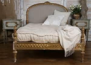 antique gilded carved bed mattress