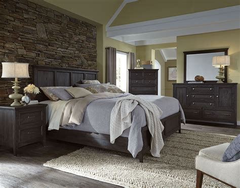 charcoal bedroom mill river weathered charcoal panel bedroom set b3803 54h 54f 54r magnussen home