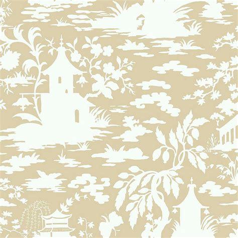 ballard designs wallpaper asian scenic toile wallpaper beige white roll ballard designs